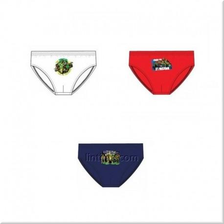 Pack de tres slips Tortugas Ninja DISNEY