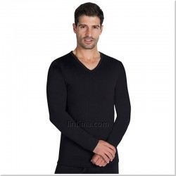 T-shirt thermique à manches longues hommes v-cou YSABEL MORA