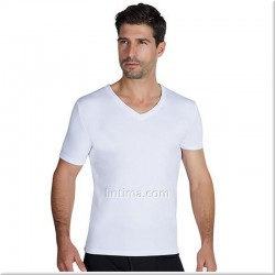 T-shirt thermique mens short sleeve v-neck YSABEL MORA