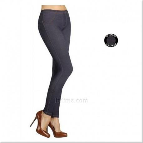 Legging jeans femme brossé YSABEL MORA