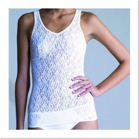 Camiseta mujer blonda tirante MARIE CLAIRE