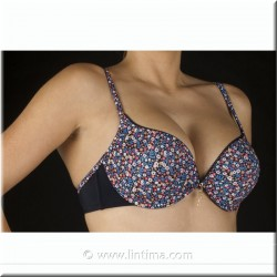 Sujetador con doble push-up estampado SELENE