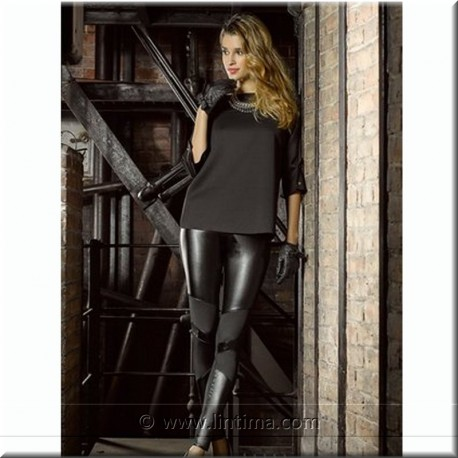 Legging pantalon de fantaisie en cuir YSABEL MORA