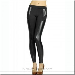 Legging pantalon fantaisie combiné en cuir YSABEL MORA