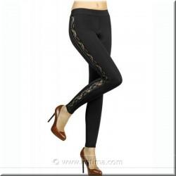 Skinny pantalon de dentelle YSABEL MORA