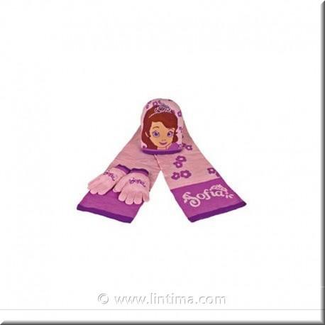 Conjunto Gorro, bufanda y guantes Princesa Sofia  DISNEY