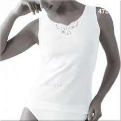 Camiseta mujer tirante con bordado PRINCESA