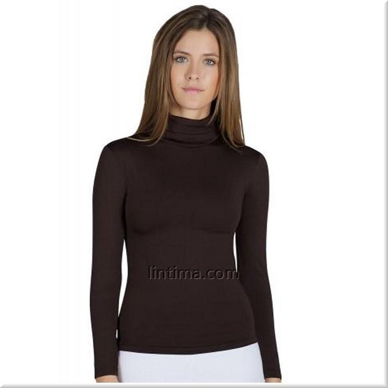 8306ceb40a Camiseta Termal cuello cisne mujer YSABEL MORA