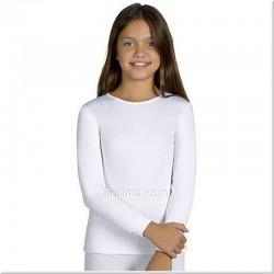T-shirt enfant thermique cou de l'équipage YSABEL MORA