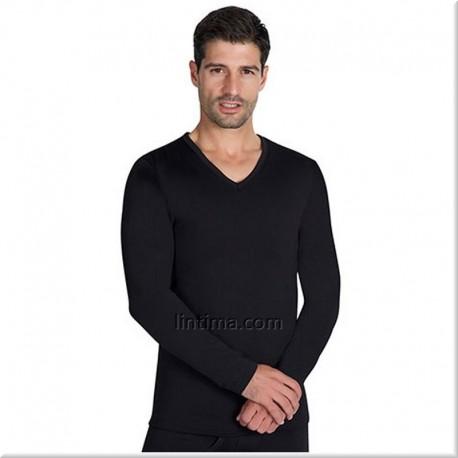 Camiseta termal hombre manga larga cuello pico YSABEL MORA
