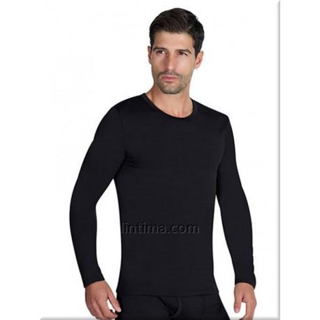 T-shirt thermique à manches longues hommes col rond YSABEL MORA