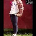 Legging fille de jeans brossé YSABEL MORA