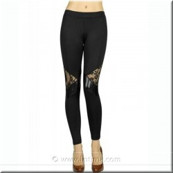 Skinny pantalon de fantaisie dentelle YSABEL MORA