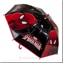Parapluie noir de Spiderman DISNEY